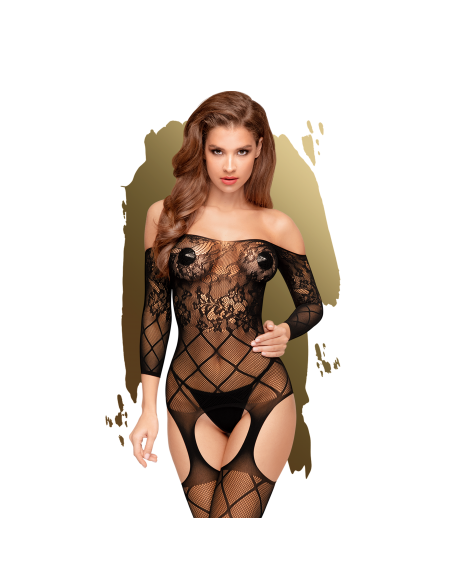 Top-notch Bodystocking - Noir